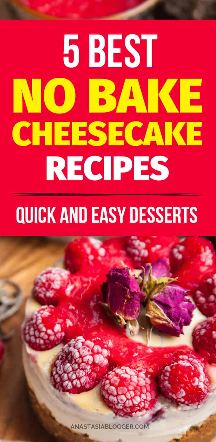 I made a collection of my favorite best no bake cheesecake recipes - these are very easy and quick desserts. No-Bake Oreo Cheesecake, mango cheesecake, Salted Caramel Coconut Cheesecake and other great recipes!