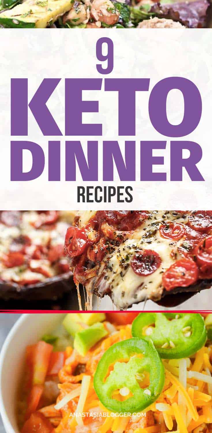 Try these 9 Easy Keto Recipes for a Healthy Dinner for your Ketogenic diet. Improve your keto mealplan with these easy low-carb Keto ideas that will help you burn fat and lose weight faster! Ketogenic fat bombs will help in your winter diet when you need a lot of energy and want to cut carbs.