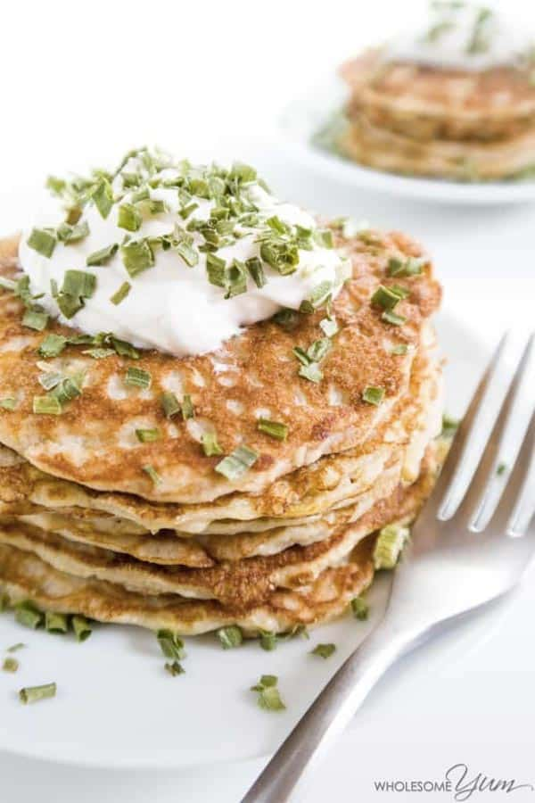 Save this collection to check later the best Keto pancakes recipes for a perfect breakfast while you are on the Ketogenic diet. These low carb pancakes have almond and coconut flour base, I found a recipe for savory pancakes and great Keto waffles option!
