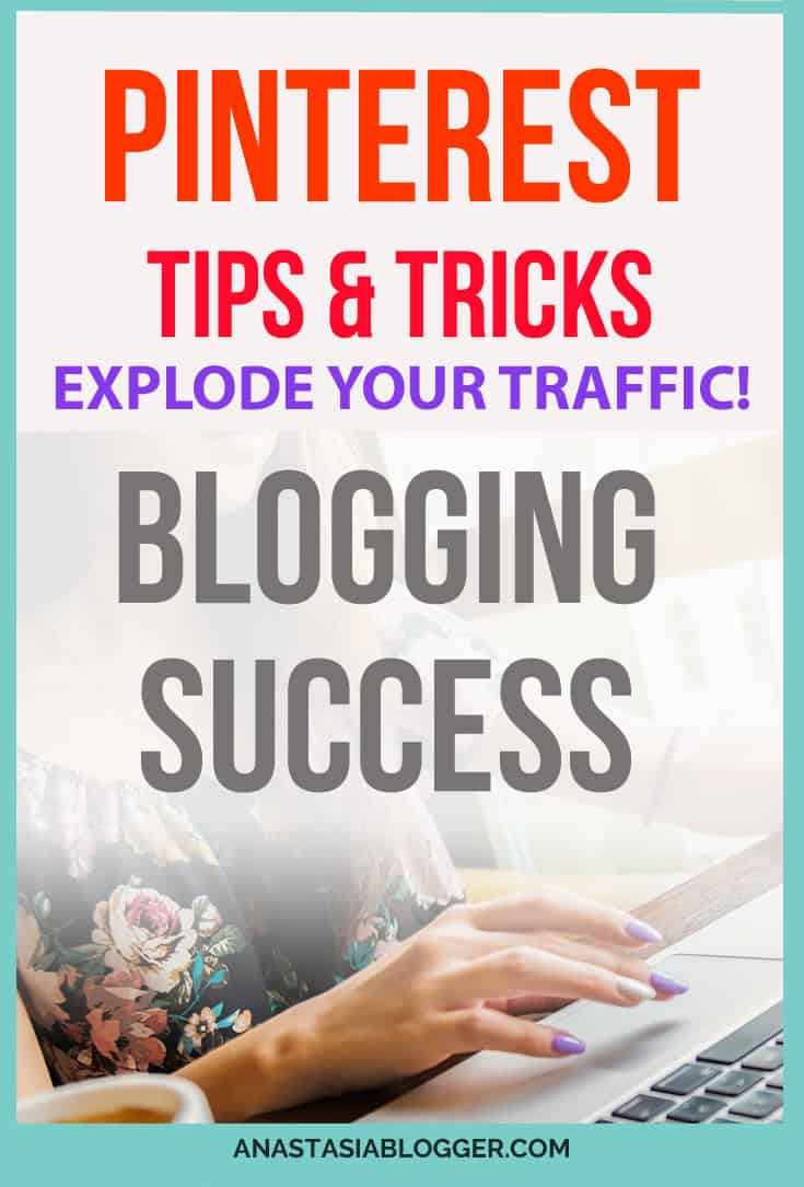 5 Best Pinterest Tips for Bloggers - learn my tips and tricks to Explode your Traffic in 2018! How to use Pinterest to grow your blog traffic fast and increase your blogging income.