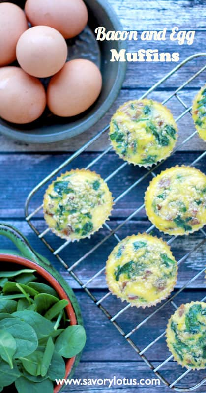 Bacon and Egg Muffins - 14 Easy Keto Breakfast to start burning fat. Keto Breakfast on the go, Keto breakfast make ahead recipes. Eggs cooked in creative ways are the basis of your breakfast on a Ketogenic diet. But it's not eggs only! You can have a no eggs Keto breakfast with muffins, Keto breakfast pancakes or Keto breakfast smoothie. #keto #ketogenic #ketodiet #breakfast #ketorecipes