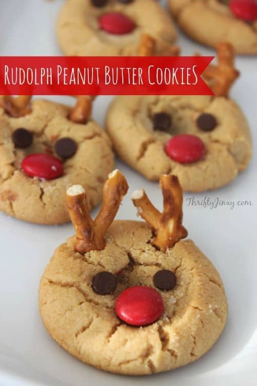 Rudolph Peanut Butter Cookie Recipe - Best Christmas Desserts - Recipes and Christmas Treats to Try this Year! Try these amazing and cute easy Christmas dessert recipes to have a great party for your kids, friends, and family! Cupcakes, cakes, sweet bites, pies, brownies, home-made Christmas popcorn, Christmas cookies and other delights. #christmas #dessertfoodrecipes #xmas #recipes #food #christmasfood