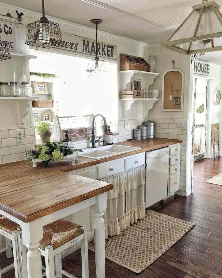 Farmhouse Kitchen Ideas on a Budget - Rustic Kitchen Decor on Rustic:yucvisfte_S= Farmhouse Kitchen Ideas  id=80951