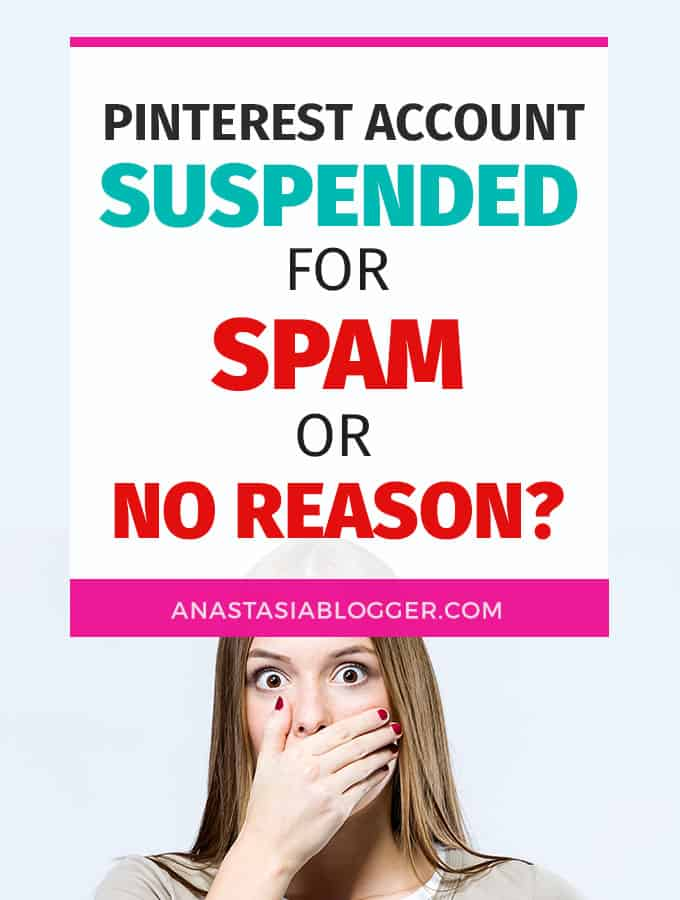Pinterest Account Suspended For Spam or For No Reason?