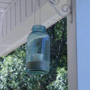 Antique Blue Mason Jar Lanterns