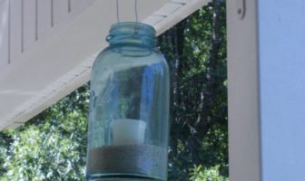 blue mason jar lanterns