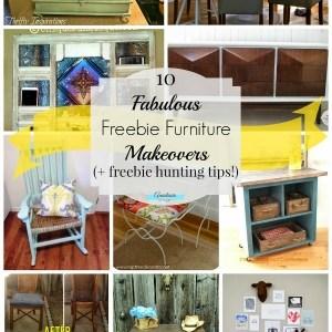 10 Fabulous Freebie Furniture Makeovers + Freebie Hunting Tips!