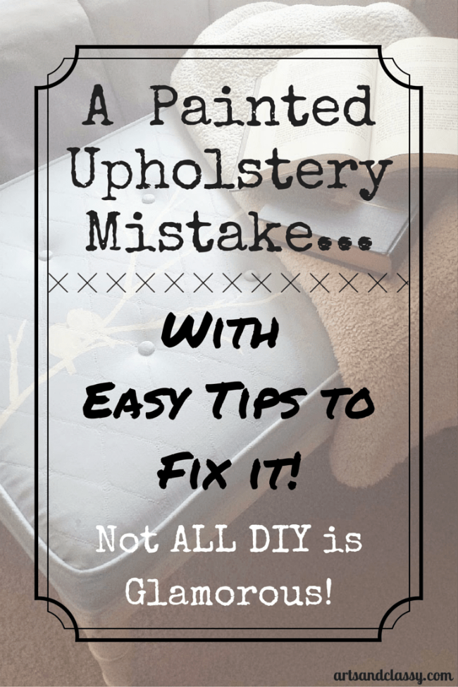 painted upholstery how to fix chalk paint Anastasia Vintage Arts & Classy
