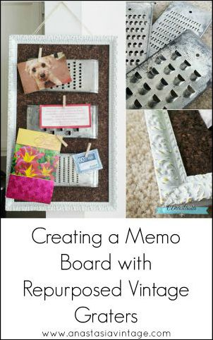 Creating a Memo Board with Repurposed Vintage Graters | Anastasia Vintage
