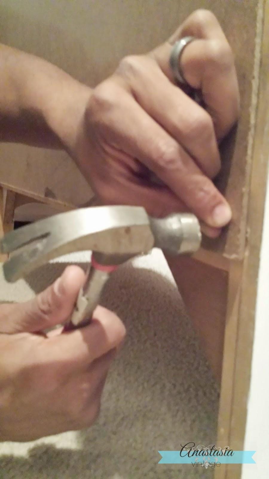hands hammering