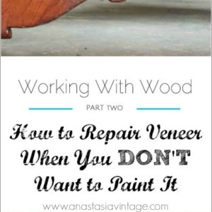 How to Repair Veneer When You DON'T Want to Paint It {Working With Wood Series, Part Two}