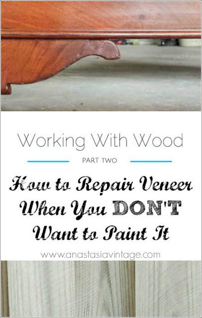 How To Repair Patch Veneer Wood Furniture No Paint