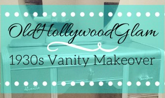 1930s Faux Silver Leaf Vanity Makover with Rustoleum spray paint