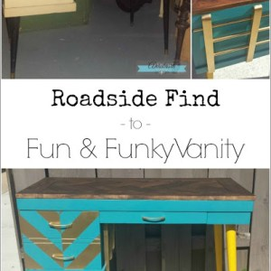Roadside Find to Fun & Funky Vanity