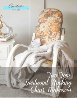 Two-Tone Bentwood Rocking Chair Makeover