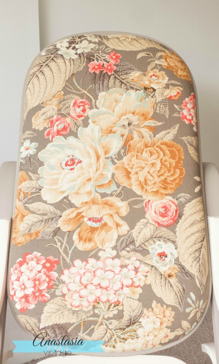 bentwood rocking chair vintage floral fabric upholstery