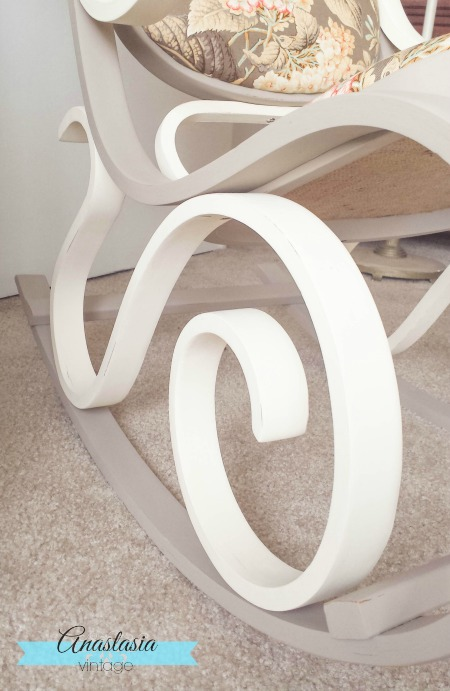 painted bentwood rocking chair Vintage White