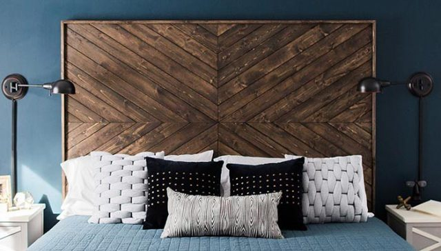 Wood Chevron Headboard