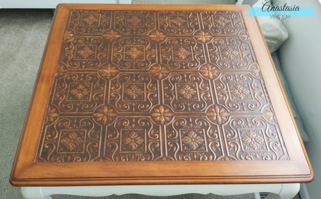 french provincial table wallpaper decoupage painted stained wood