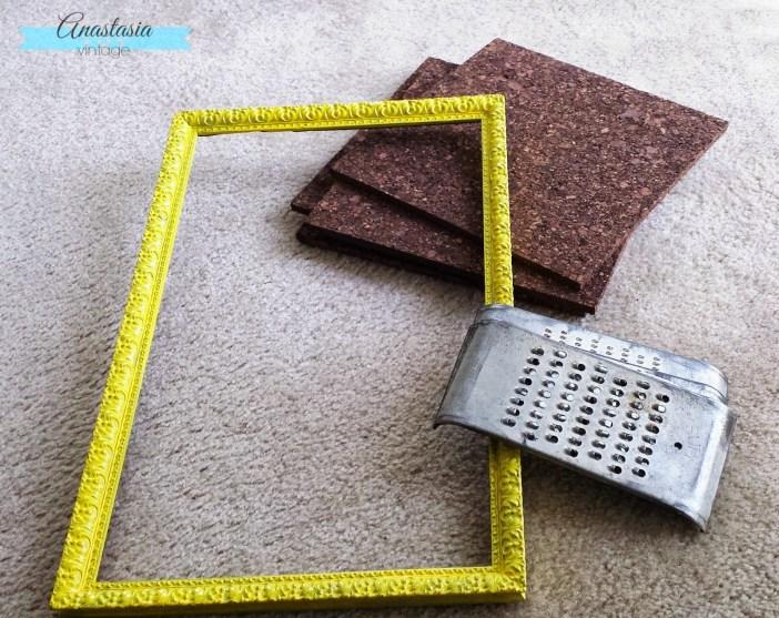 vintage cork board materials