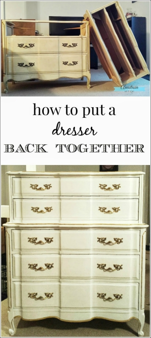 How to Put a Dresser Back Together | Anastasia Vintage