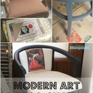Modern Art Deco Chair {November Fab Furniture Flippin' Contest}