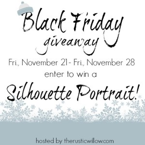 Black Friday Silhouette Portrait Giveaway!