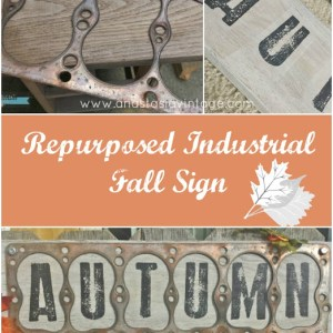 "More Repurposed Industrial Fall Decor – ""Autumn"" Sign {Home for Fall Blog Hop}"