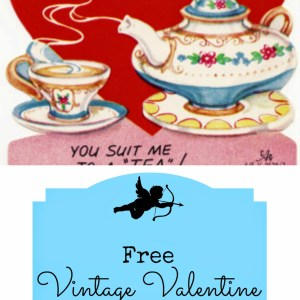 free vintage valentine's day card printable