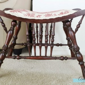 French Country Victorian Seat Makeover