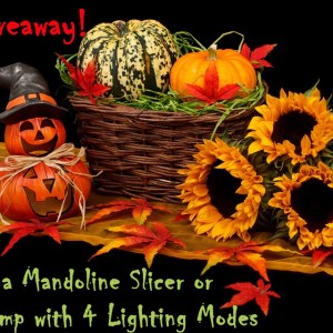 Fall Giveaway – Win Mandoline Slicer or Desk Lamp!