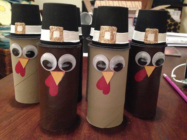 Thanksgiving centerpiece turkeys