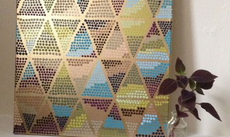 triangle dot pattern painting project