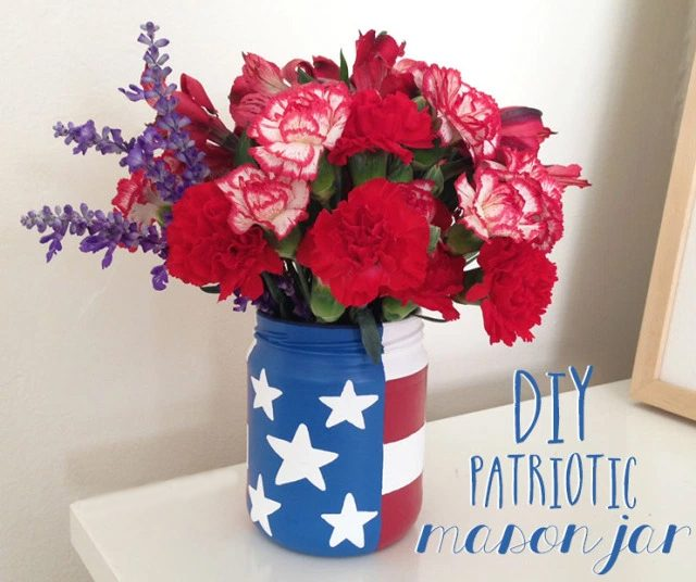 diy project patriotic mason jar
