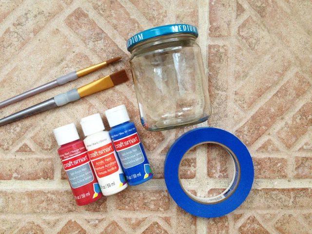 diy project patriotic mason jar