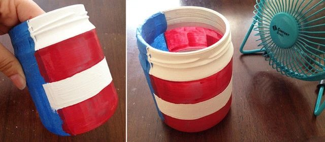 project patriotic mason jar
