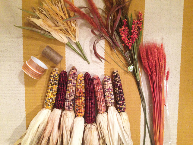 DIY Indian Corn Swag Materials