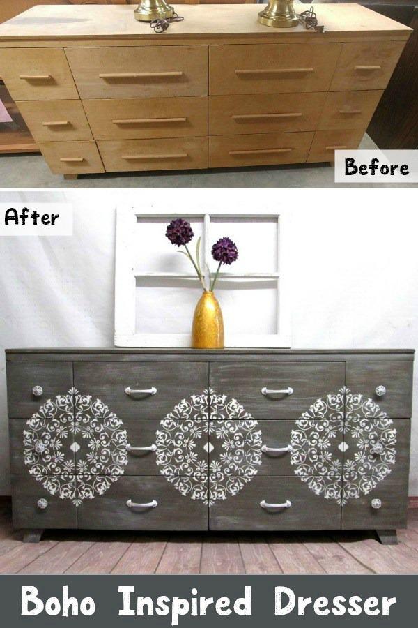 Boho-Inspired-Drawer-Dresser