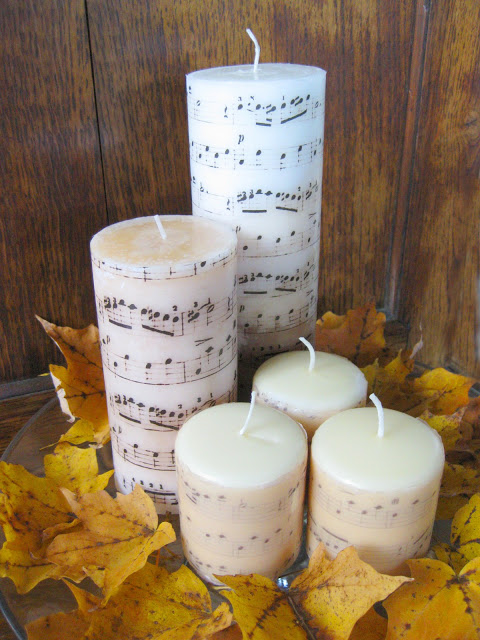 Knock off Music Candles