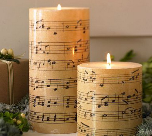 Pottery Barn Music Candles