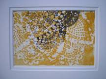 Doily Study: Yellow Lace with Black