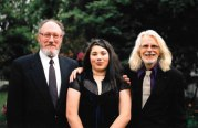 before my highschool grad, with Walter and my dad in our front yard.