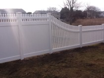 vinyl fence ornamental transition...