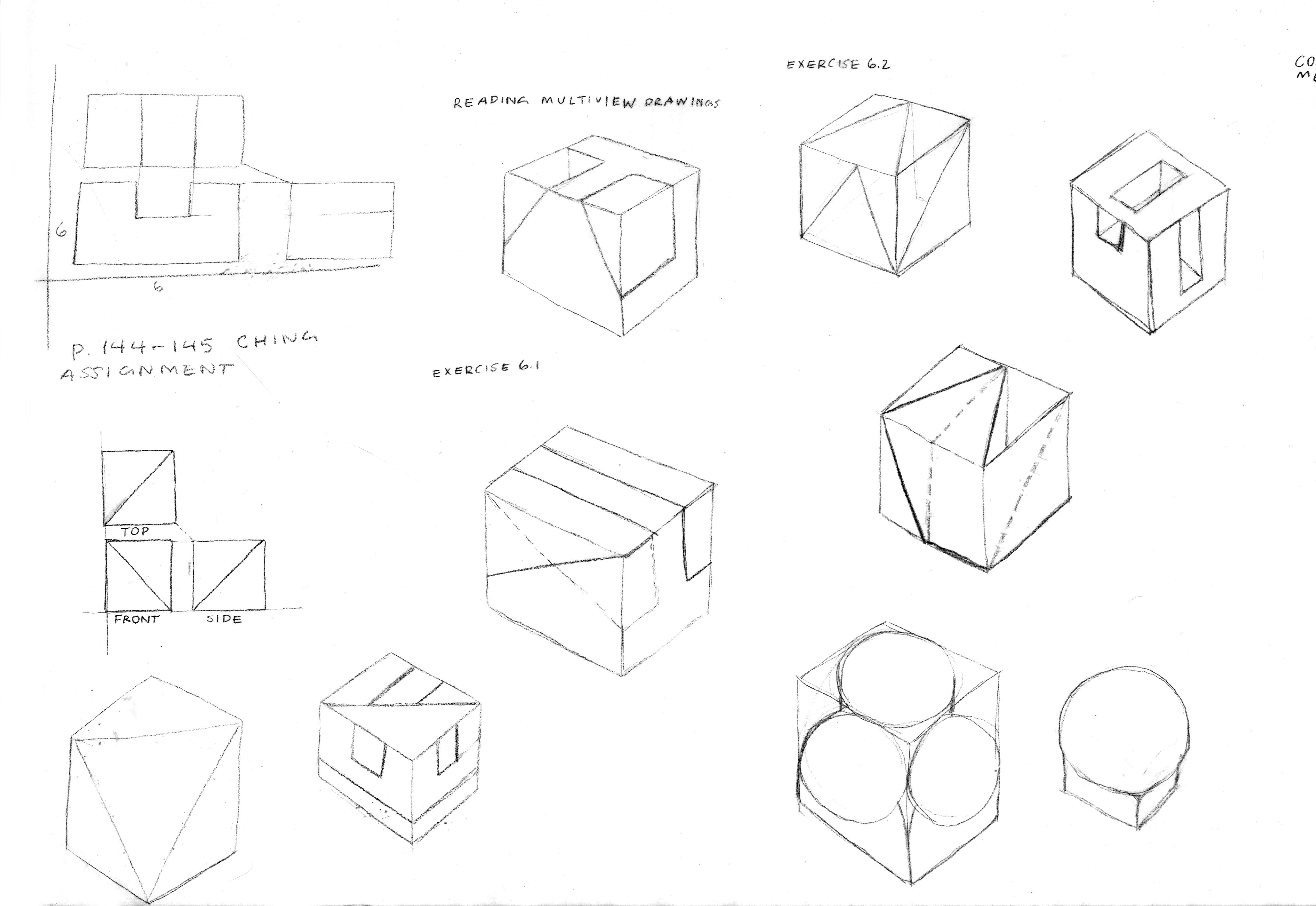 30 Top For Multiview Drawing Exercises