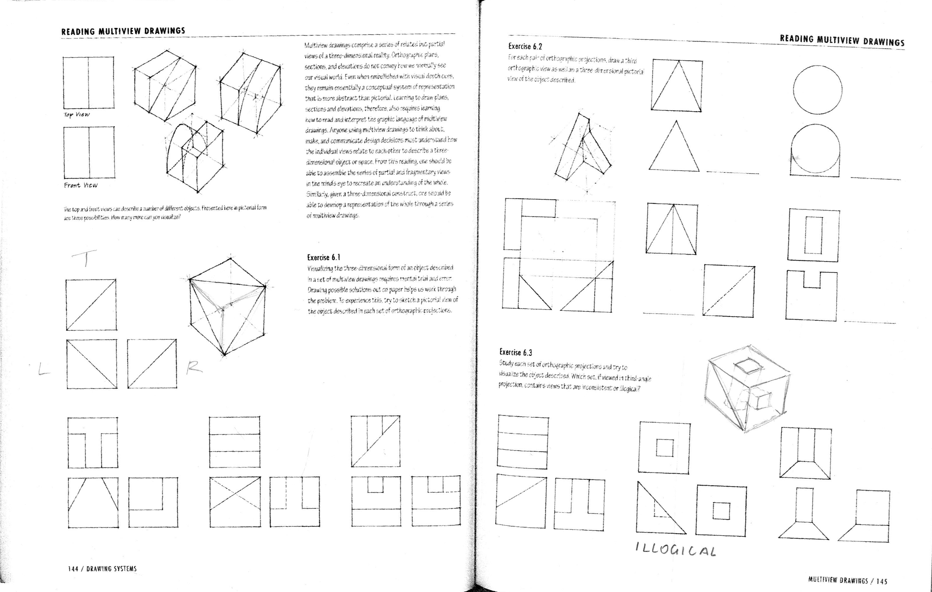 17 Multiview Drawing Worksheet Answers Printable