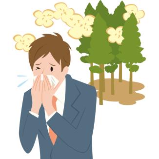 花粉症のアレルギー症状による目のかゆみと鼻水