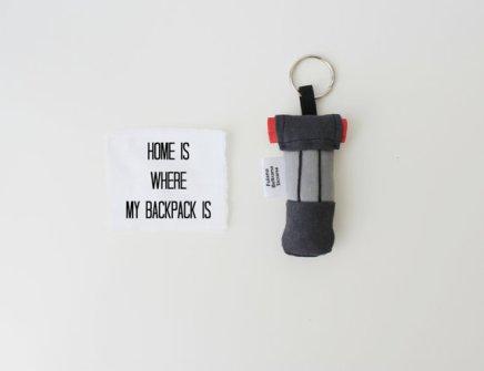 Ooak miniature backpack keychain