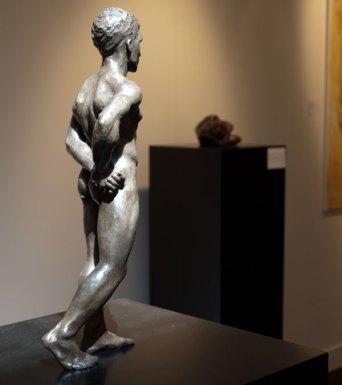Ilija standing at 'beelden bij Beljon'