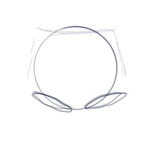 Step one: Base for drawing legs