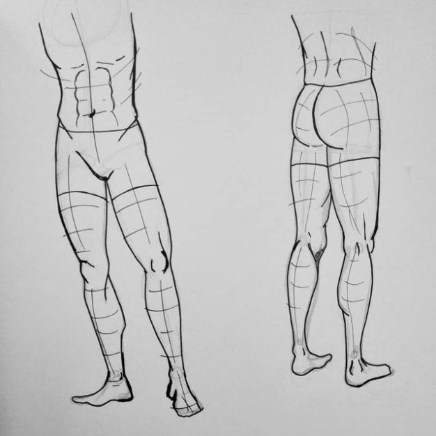 How to Draw Males legs front and from behind